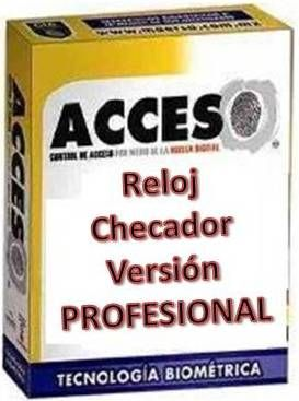 software control de asitencia acceso version profesional